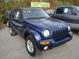 2002 Patriot Blue Pearlcoat Jeep Liberty Limited 4x4 #38412890
