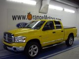 2007 Detonator Yellow Dodge Ram 1500 ST Quad Cab 4x4 #38412910