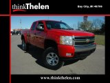 2007 Victory Red Chevrolet Silverado 1500 LT Extended Cab 4x4 #38413476