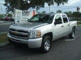 2011 Sheer Silver Metallic Chevrolet Silverado 1500 LS Crew Cab 4x4 #38412726