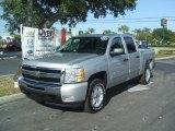 2011 Sheer Silver Metallic Chevrolet Silverado 1500 LT Crew Cab 4x4 #38412727