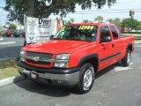2005 Victory Red Chevrolet Silverado 1500 Z71 Extended Cab 4x4 #38412737
