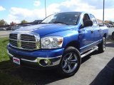2008 Electric Blue Pearl Dodge Ram 1500 Big Horn Edition Quad Cab 4x4 #38474567