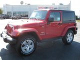 2011 Flame Red Jeep Wrangler Sahara 4x4 #38474912
