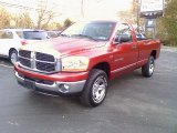 2006 Inferno Red Crystal Pearl Dodge Ram 1500 SLT Regular Cab 4x4 #38474352