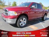 2011 Deep Cherry Red Crystal Pearl Dodge Ram 1500 Big Horn Crew Cab #38474667