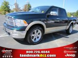 2011 Hunter Green Pearl Dodge Ram 1500 Laramie Crew Cab #38474671