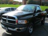 2003 Black Dodge Ram 1500 ST Regular Cab 4x4 #38475344