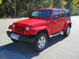 2011 Jeep Wrangler Unlimited Flame Red