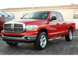 2006 Flame Red Dodge Ram 1500 Big Horn Edition Quad Cab 4x4 #38549274