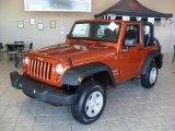 2011 Mango Tango Pearl Jeep Wrangler Sport 4x4 #38549581