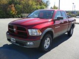 2011 Deep Cherry Red Crystal Pearl Dodge Ram 1500 SLT Outdoorsman Quad Cab 4x4 #38549583