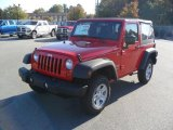 2011 Flame Red Jeep Wrangler Sport 4x4 #38549588