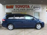 2011 South Pacific Blue Pearl Toyota Sienna LE #38548788