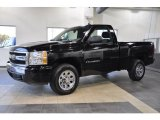 2008 Black Chevrolet Silverado 1500 LS Regular Cab #38549073