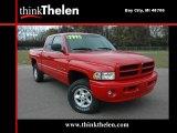 2001 Flame Red Dodge Ram 1500 Sport Club Cab 4x4 #38549695