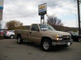 2006 Sandstone Metallic Chevrolet Silverado 1500 Work Truck Regular Cab 4x4 #38622668