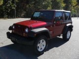 2011 Deep Cherry Red Crystal Pearl Jeep Wrangler Sport S 4x4 #38623164