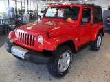 2011 Flame Red Jeep Wrangler Sahara 4x4 #38623165