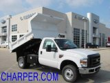 2010 Oxford White Ford F350 Super Duty XL Regular Cab 4x4 Chassis Dump Truck #38622521