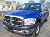 2007 Electric Blue Pearl Dodge Ram 1500 SLT Quad Cab 4x4 #38622699