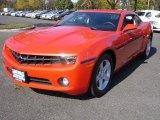 2010 Inferno Orange Metallic Chevrolet Camaro LT Coupe #38674185