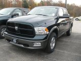 2011 Hunter Green Pearl Dodge Ram 1500 SLT Outdoorsman Crew Cab 4x4 #38690526