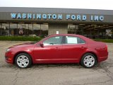 2010 Sangria Red Metallic Ford Fusion SE V6 #38690197