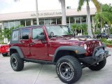 2008 Jeep Wrangler Unlimited Red Rock Crystal Pearl
