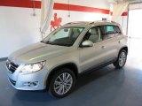 2011 White Gold Metallic Volkswagen Tiguan SE #38689551
