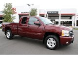 2009 Deep Ruby Red Metallic Chevrolet Silverado 1500 LTZ Extended Cab 4x4 #38689559