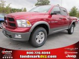 2011 Deep Cherry Red Crystal Pearl Dodge Ram 1500 SLT Outdoorsman Crew Cab 4x4 #38689913