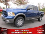2011 Deep Water Blue Pearl Dodge Ram 1500 SLT Outdoorsman Crew Cab 4x4 #38689916
