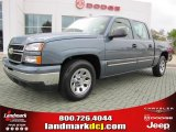 2006 Blue Granite Metallic Chevrolet Silverado 1500 LS Crew Cab #38689925