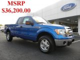 2010 Blue Flame Metallic Ford F150 XLT SuperCab 4x4 #38689928