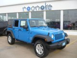 2011 Cosmos Blue Jeep Wrangler Unlimited Sport 4x4 #38689934