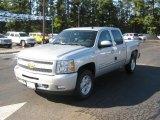2011 Sheer Silver Metallic Chevrolet Silverado 1500 LT Crew Cab 4x4 #38690680