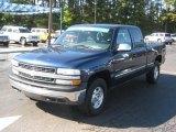 2002 Indigo Blue Metallic Chevrolet Silverado 1500 LS Extended Cab 4x4 #38690683