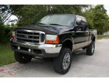 2000 Black Ford F250 Super Duty Lariat Extended Cab 4x4 #38690014