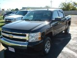 2007 Black Chevrolet Silverado 1500 LT Crew Cab #38690478