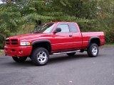 2001 Flame Red Dodge Ram 1500 Sport Club Cab 4x4 #38690110