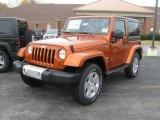 2011 Mango Tango Pearl Jeep Wrangler Sahara 4x4 #38690520