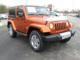 2011 Jeep Wrangler Mango Tango Pearl