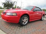2002 Torch Red Ford Mustang V6 Convertible #38690885