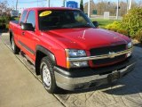 2004 Victory Red Chevrolet Silverado 1500 Z71 Extended Cab 4x4 #38795419