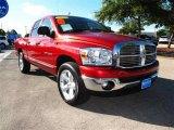 2007 Inferno Red Crystal Pearl Dodge Ram 1500 SLT Quad Cab #38794268