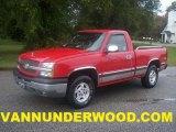 2003 Victory Red Chevrolet Silverado 1500 LS Regular Cab 4x4 #38794346