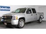 2010 Sheer Silver Metallic Chevrolet Silverado 1500 LT Crew Cab 4x4 #38795295
