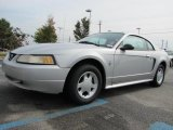 2000 Silver Metallic Ford Mustang V6 Coupe #38795788