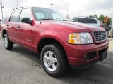 Redfire Metallic Ford Explorer in 2004